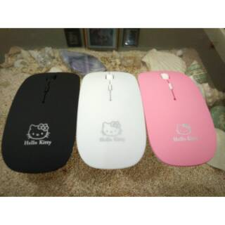 Mouse Wireless Super Slim Hello Kitty Character 2.4Ghz (Cocok untuk Laptop,Notebook,Netbook,MacBook)