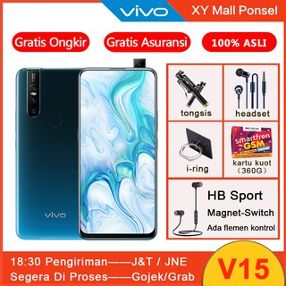 VIVO V15 6GB 64GB Garansi Resmi BNIB Tiga pop-up camera 32MP AI Face Beauty Handphone vivo handphone