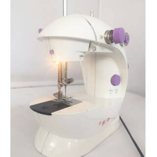 202 Lampu Mesin Jahit Portable Mini - Mini Sewing Machine Portable Pedals With Adaptor