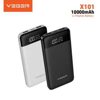 VEGER X101 10000mAh Powerbank Indicator LED Digital Display Fast Real Capacity Power Bank