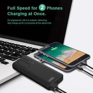 Powerbank ZOLA Alpha 10400mAh Fast Charging 2.1A Dua Output - Black Paling Laris