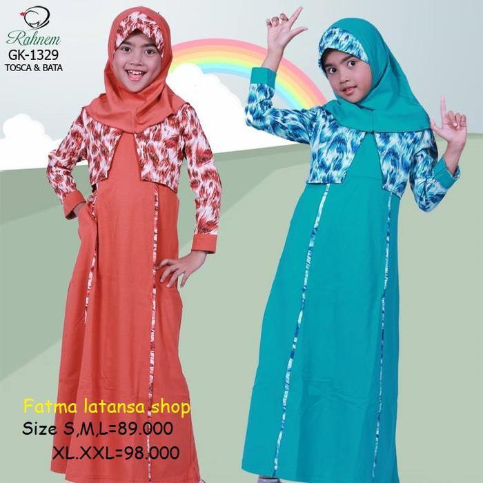 Rahnem Gk 1329 Diskon 15% /Busana Muslim/Dress/Gamis Anak/Gamis Pesta