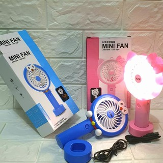 Kipas Mini karakter Led Light