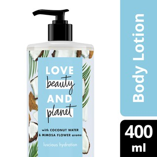 Love Beauty & Planet Luscious Hydration Coconut Water & Mimosa Flower Body Lotion 400ml