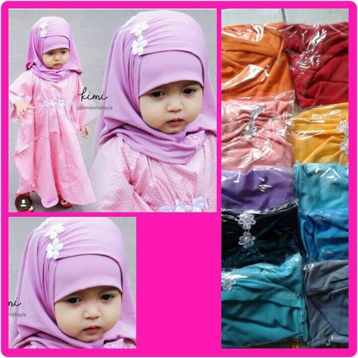 Jilbab Bayi Syria Kerut Melati / Kerudung Anak / Hijab Baby /Khimar