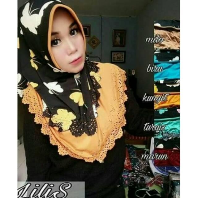Hijab LILIS instan // motif kupukupu