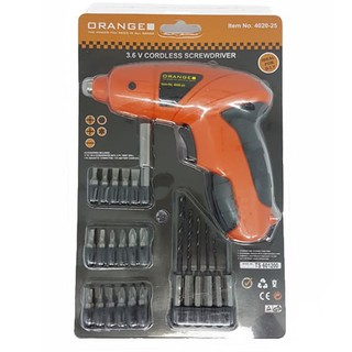 TERMURAH - BOR CORDLESS DRILL ORANGE MODEL FISCH - MATA BOR OBENG