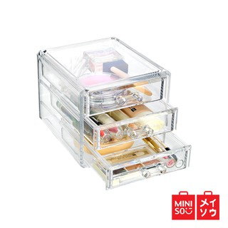 Miniso Official Drawer three-layer jewelry storage box/kotak beauty/penyimpanan make up