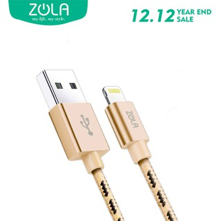 Kabel Data iPhone Lightning ZOLA Epic Tough Nylon 100cm Fast Charging 2.1A