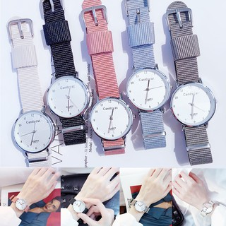 CODJam Tangan Wanita Analog Quartz Casual Simple Chic Strap Nylon untuk Fashion Watch