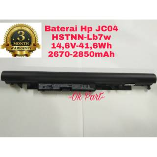 Baterai Battery Laptop Original Hp 240 245 250 255 G6 15BS 15BW 17BS JC04 JC03 TPN-Q186 HSTNN-LB7W