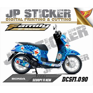 Sticker Decal atau full body SCOOPY FI NEW desain 090