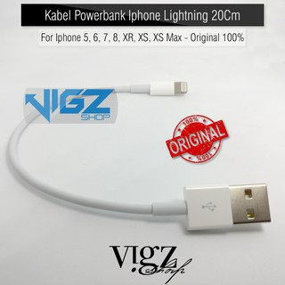 Kabel Charger Power Bank Iphone Lightning 20cm For Iphone 5 6 7 8 X XR XS XS Max Ipad Original 100%