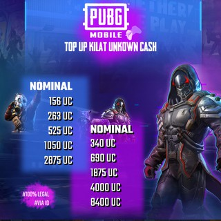 [RESMI] Promo Top Up Kilat Recharge UC Pubg Mobile - 100% Legal dan Termurah