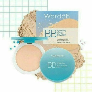 ORIGINAL Bedak Wardah BB Lightening Cake Powder Lengkap SPF 15