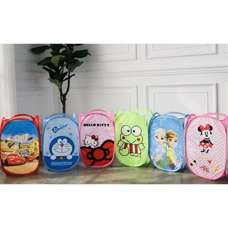Laundry Bag Keranjang Baju Karakter Doraemon Hello Kitty Frozen Keropi Cars Minnie Mouse Kode X 084