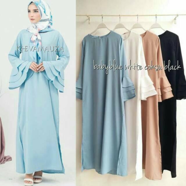 shireen long dress maxy gamis hijab kheva mauza
