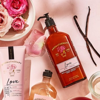 LOVE AROMATHERAPY LOTION BATH AND BODY WORKS