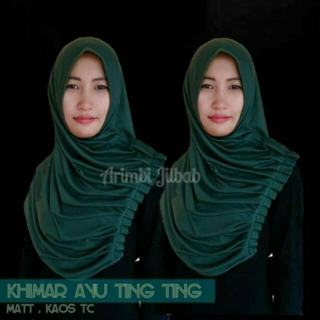 [Termurah] Jilbab instanayu ting ting/Hijab Najwa/Hijab Syar'i/Bergo antem