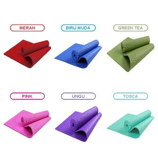 Matras Yoga Mat Rubber Series / Matras Yoga Import Murah / Matras Senam Import Alas Yoga Termurah