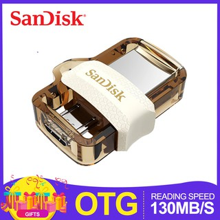 OTG 32GB/64GB/128GB Dual OTG USB Flash Drive Flahdisk 130M/S USB3.0 Original -GOLD