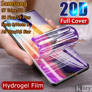 Hydrogel Screen Protector Samsung S7 Edge S8 S9 Plus A9 A8 Star A60 A70 A80 Note 8 9 10 Plus Pro