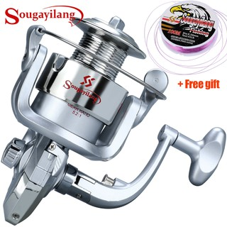 Sougayilang Ultralight Hard 5.2:1 Rotating Speed Reel Pancing Spining Fishing Reel Joran Pancing