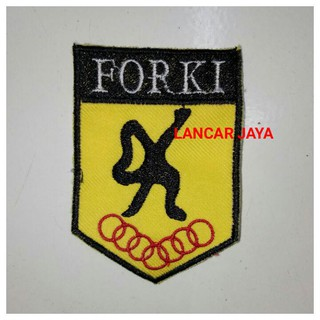LOGO FORKI KARATE -BAGDE EMBLEM FULL BORDIR