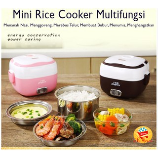 TGB Mini Rice Cooker Multifungsi / Penanak Nasi / Egg Boiler / Lunch Box