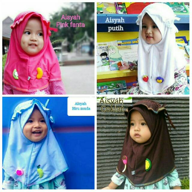 Jilbab kerudung anak Rifara Kids Aisyah series