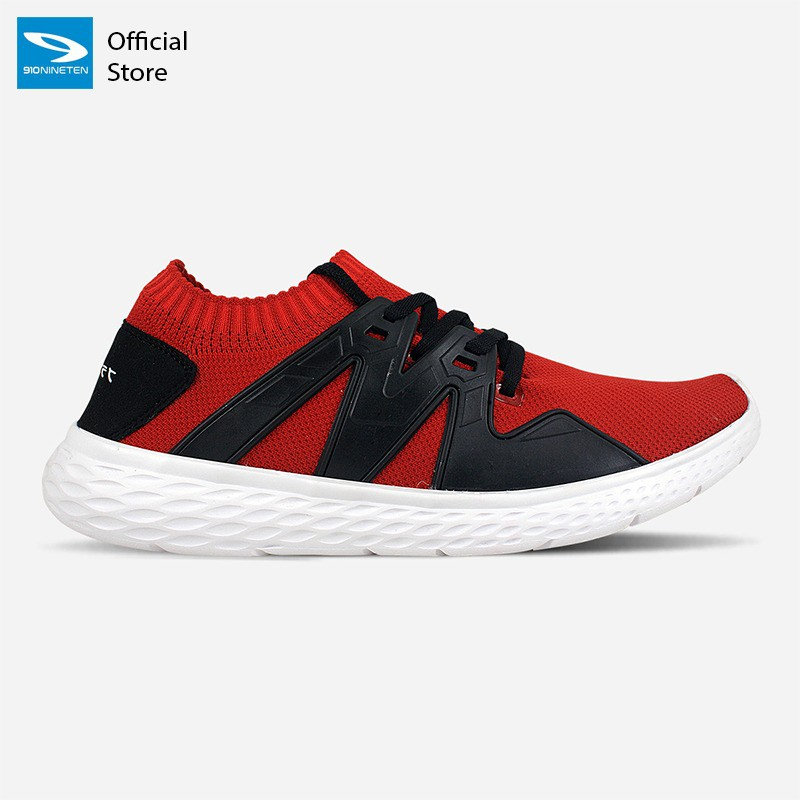 910 Nineten  FUJIWARA Sepatu Running Unisex Merah/Hitam/Putih