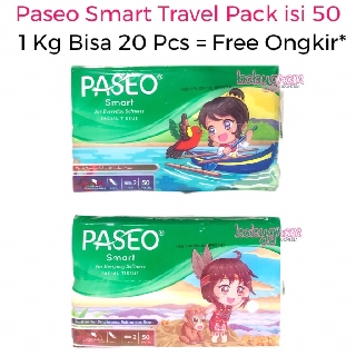Tissue Paseo Smart Travel pack 1pack Isi 50 Lbr Tisue Tisu 2 Ply / Passeo Facial