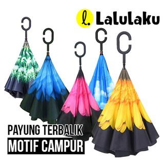 Kazbrella Payung Terbalik Upside Down Umbrella