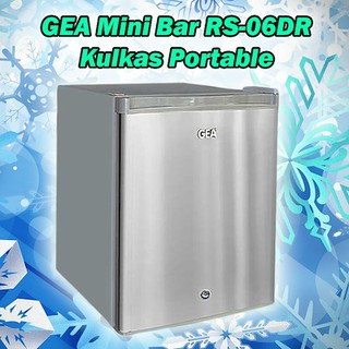 Kulkas Portable GEA RS-06DR Mini Bar Soft Drink Cabinet RS06DR