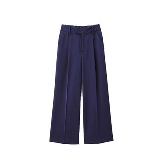 UNIQLO GU Easy Wide Comfy Pants - Caramel - Navy - Black Celana  Kulot Panjang
