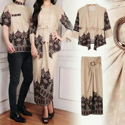 [Promo |  Murah | Busana muslim] vbn gamis batik couple DESI coksu cp maxi / baju pakaian pasangan