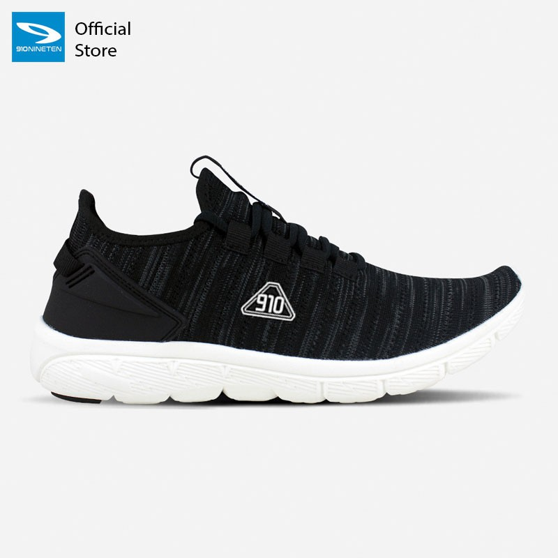 910 Nineten AMARU Sepatu Running Unisex Hitam/Putih