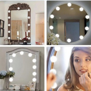 [HOT!] Lampu Makeup Tumblr Tempel Kaca USB Charging Cosmetic LED BULB Vanity Mirror Lights - SDR❤