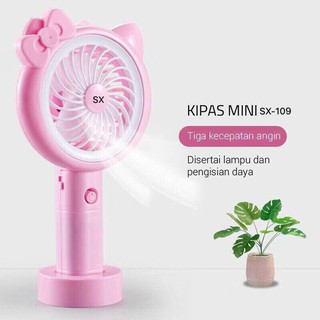 Kipas USB Minifan LED Doraemon Hello Kitty / Kipas Tangan Mini Fan Portable / SX-109