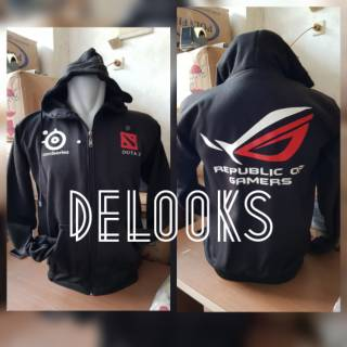 Jaket Zipper Dota 2  ROG Steel Series