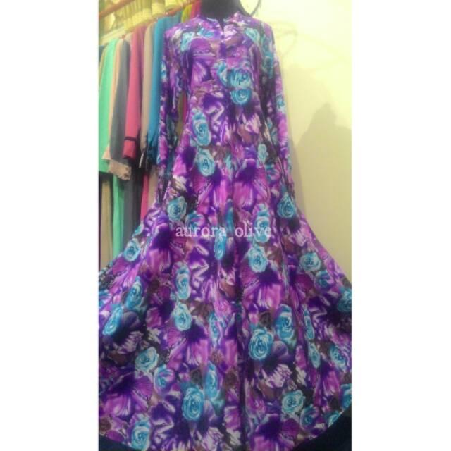 Gamis purple rose