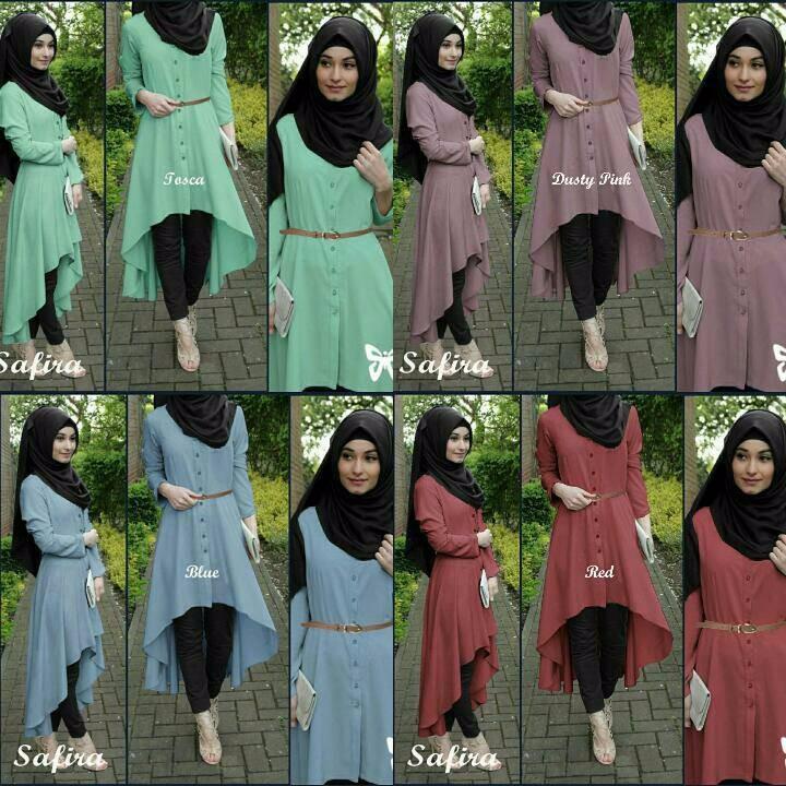 Safira Hijab 4in1 Baju Muslim setelan Busana Muslim Terbaru Terlaris