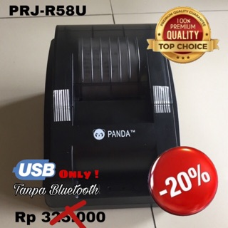 MINI DESKTOP RECIEPT POS PRINTER KASIR/PPOB PANDA PRJ-R58U KERTAS THERMAL 58MM (USB TANPA BLUETOOTH)