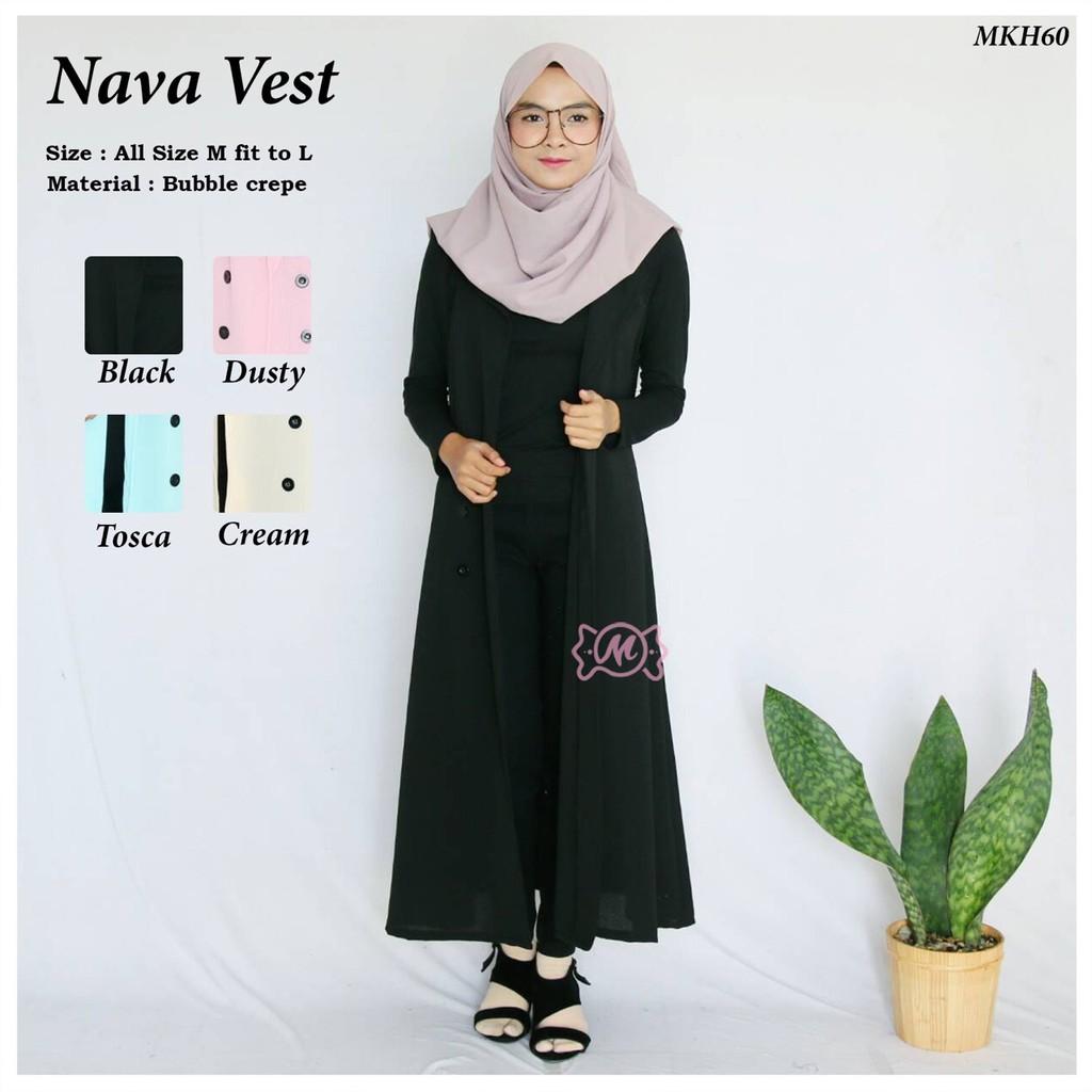 Baju Hijab Wanita Nava Vest