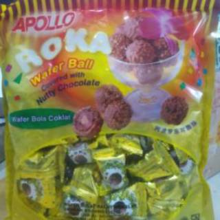 Roka Wafer Ball Refill isi 50pcs / Coklat Bola Apollo isi 50 butir