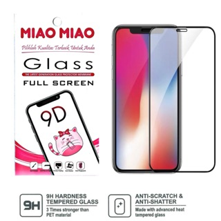 TEMPERED GLASS 5D 9D 11D 21D MERK MIAO MIAO SAMSUNG XIAOMI OPPO VIVO IPHONE PREMIUM QUALITY BLACK