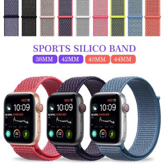 Pengganti Strap Nilon Loop Sport 38 / 42 / 40 / 44mm untuk Apple Watch Series 5 / 4 / 3 / 2 / 1