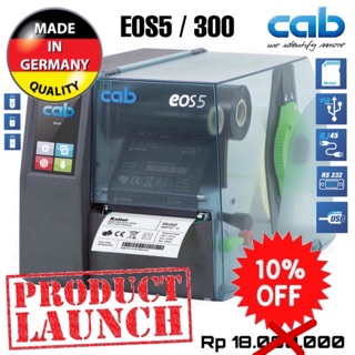 CAB EOS 5/300 THERMAL TRANSFER RIBBON BARCODE LABEL PRINTER-300DPI