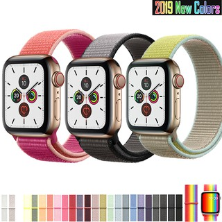 Apple Watch Band 5 4 3 2 1 38mm 42mm 40mm 44mm Nylon Soft Sport Replacement iWatch 5 Strap