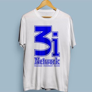 Kaos CAR #3 Putih Sablon Biru 3i Network (CAR Investment Insurance Inc